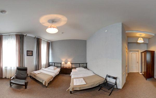№2 «Стандарт» двухместный, 2 полутороспальные кровати