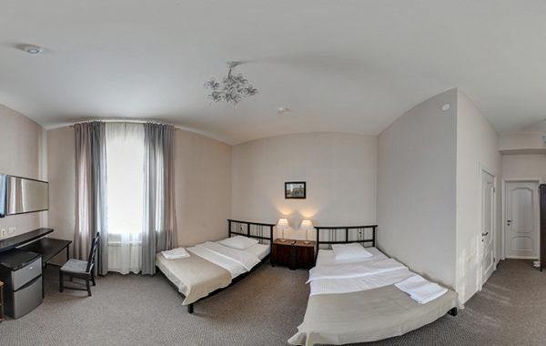 №4 «Стандарт» двухместный, 2 полутороспальные кровати